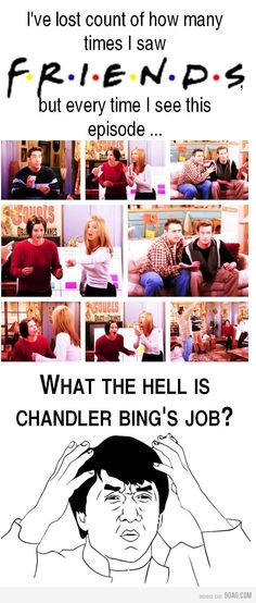 """One of my favorite episode of friends. Haha. He's a """"transpondster""""!"""