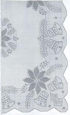 sheme by azra 87 Crochet Curtains, Crochet Quilt, Crochet Cross, Crochet Tablecloth, Crochet Bear, Crochet Motif, Crochet Doilies, Crochet Stitches, Cross Stitch Charts