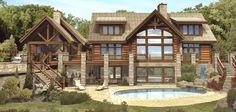 log cabin layout designs | Log Home Plans, Log House Designs, Log Homes – House Plans and More