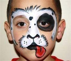 dog face painting - Buscar con Google