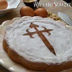 La torta di Santiago    ECCO UN BUONISSIMO DOLCE SPAGNOLO SENZA GLUTINE E LATTICINI