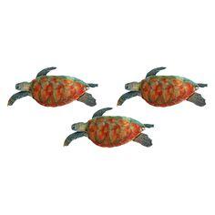 Next Innovations Sea Turtle 3D Wall Art - Set of 3 - 101210055