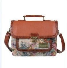 2015 New Vintage Rugged Leather Full Grain Leather Men's and women's Briefcase fashion Handbag Shoulder Bag Messenger Satchel