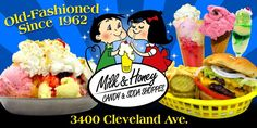 Another classic spot in Canton that is a must visit is Milk & Honey!  Ice Cream, Candy, & Burgers...what's not to like?