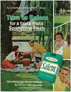 1966 Salem Cigarettes Ad, Man & Woman on Picnic | Flickr - Photo Sharing!