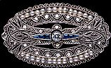 Edwardian Brooch with Diamonds Sapphires and Pearls