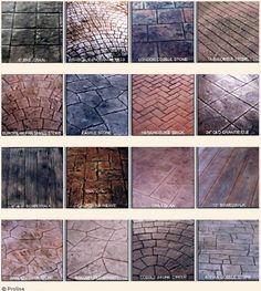 Concrete Stamping, Stamped Concrete, Concrete Pad, Concrete Floors, Concrete Finishes, Backyard Plan, Backyard Patio, Backyard Landscaping, Paver Designs