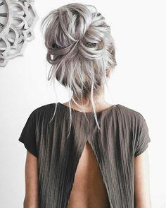 Hair hair styles hair color hair cuts hair color ideas for brunettes hair color ideas Corte Y Color, Great Hair, Pretty Hairstyles, Unique Hairstyles, Hairstyle Ideas, Quick Hairstyles, Scene Hairstyles, Hairstyles 2018, Wedding Hairstyles