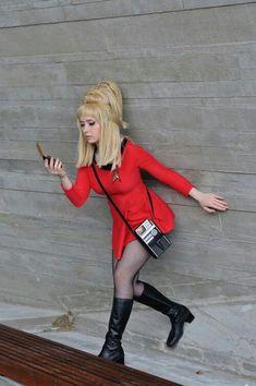 Janice Rand Star Trek Cosplay - I will TOTALLY get a star trek costume someday Star Trek Tos, Star Wars, Star Trek Uniforms, Star Trek Cosplay, Space Outfit, Star Trek Images, Star Trek Characters, Star Trek Universe, Star Trek Enterprise