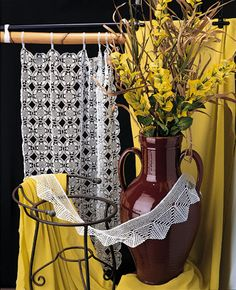 crochet curtains patterns free - Google Search
