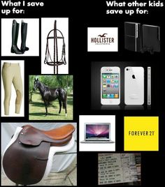 Unfortunately the horse stuff is always more expensive =