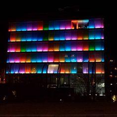 Route de Chêne 30 #geneva #geneve #genève #lights #architecture #building #buildinglights #night