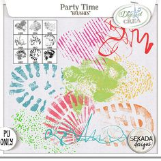Save 50% off Party Time - Brushes