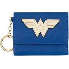 Wonder Woman Comic Mini Trifold Blue Wallet (267.905 IDR) ❤ liked on Polyvore featuring bags, wallets, comic bag, blue wallet, blue bag, mini wallet and comic book