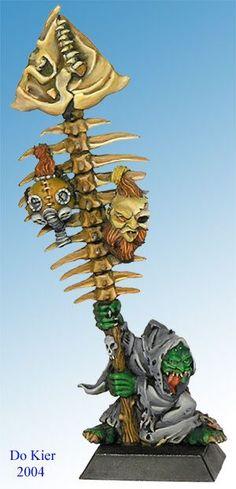 goblin with fish bone standard