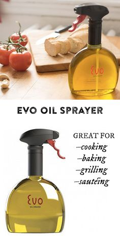 The first non-aerosol trigger sprayer designed especially for spritzing foods and cooking surfaces with oils or vinegars of your choice.