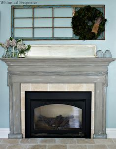Mantel refinish. Annie Sloan chalk paint. Layer of French Linen ...