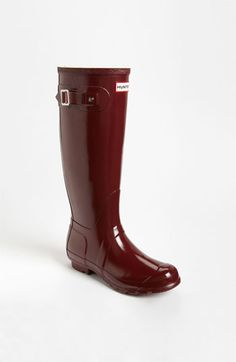 Hunter 'Original Tall' Gloss Rain Boot in Merlot (Women) | Nordstrom