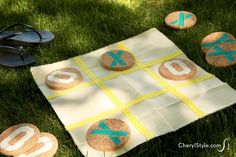 Make a simple DIY tic-tac-toe game to take on the go—it's endless fun!