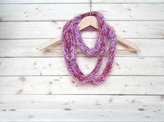 Multicolor crochet infinity scarf handmade by ILoveCrochetByAnna