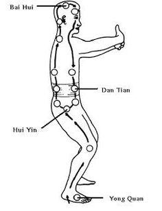 Zhan Zhuang est au coeur de la pratique du Qi Gong taoïste et bouddhiste. Cet exercice de Qi Gong permet d'intégrer les 3 composants essentiels de la pratique du Qi Gong au moyen de la formule suivante : posture + respiration + intention. Ce triptyque est un reflet des 3 trésors 三寶 San Bao.