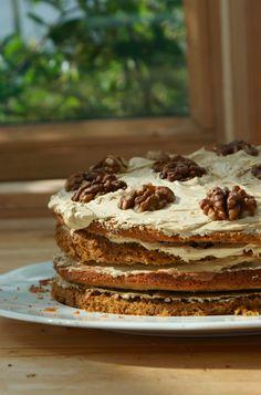 Poires au Chocolat: Coffee and Walnut Cake