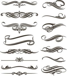 filigree clip art | Continue reading 'Set of Floral Elements for Design Vector Graphic ...