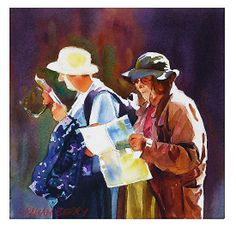 """Still lost by Graham Berry Watercolor ~ 10"""" x 10"""""""