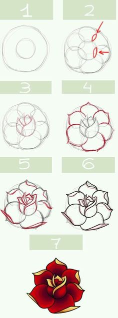 how to sketch a flower