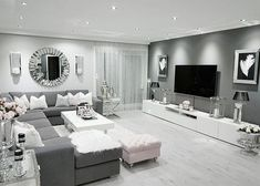 2 443 mentions J& 32 commentaires - Meral Sucu ( sur Instagra . Glam Living Room, Living Room Decor Cozy, Interior Design Living Room, Home And Living, Living Room Designs, Living Rooms, Modern Living, Black And White Living Room, Home Decor