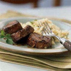 Spiced Pork with Bourbon Reduction Sauce | MyRecipes.com
