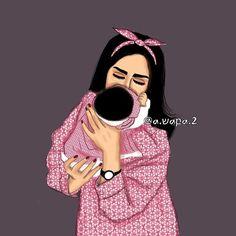 Mother Daughter Art, Mother Art, Mother And Child, Sarra Art, Pregnancy Art, Girly M, Bff Drawings, Family Illustration, Digital Art Girl
