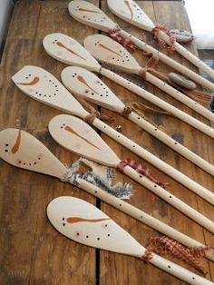 Holiday Wooden Spoons (Snowmen Spoons & Pumpkin Spoons) - Have our craft group make these and sell them at the store.