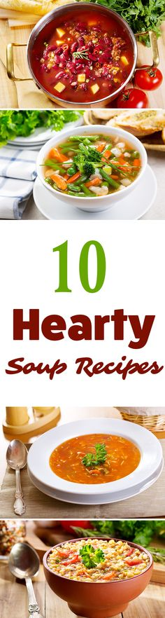 Try these hearty soup recipes to keep you warm and satisfied on cold winter days! #recipe