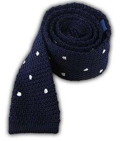 Knit Polkas - Blue