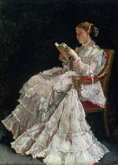 Alfred Stevens, Reading Art, Woman Reading, Reading Books, Image Avatar, William Adolphe Bouguereau, Illustration Art, Illustrations, Victorian Art