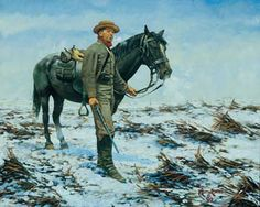Keith Rocco   Laurel Brigade Cavalry, Shenandoah Valley.  A Confederate trooper on outpost duty. http://www.civil-war-store.net/civil-war-art.htm