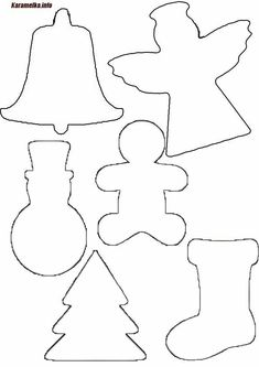 This Pin was discovered by pat tolliver. Discover (and save!) your own Pins. Holiday Crafts For Kids, Preschool Christmas, Easy Christmas Crafts, Christmas Activities, Christmas Projects, Kids Christmas, Christmas Ornament Template, Christmas Applique, Christmas Templates