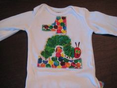 Very Hungry Caterpillar Birthday Onsie | MadeByLovingHands - Clothing on ArtFire