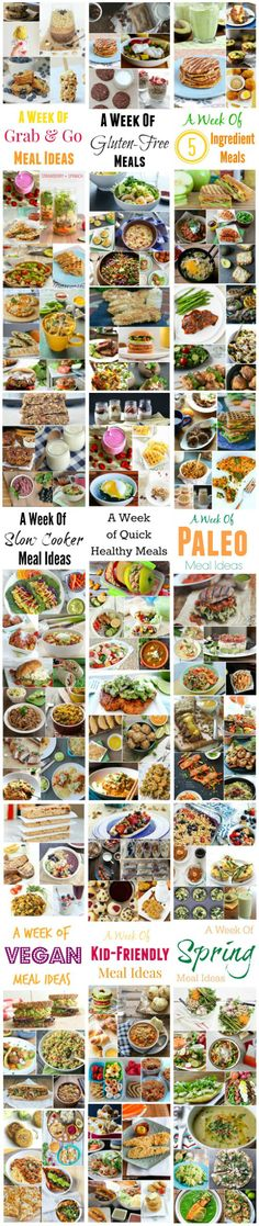 Themed Weekly Meal Plans for breakfast, lunch and dinner