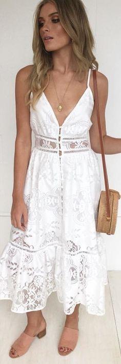 #winter #outfits white spaghetti strap dress