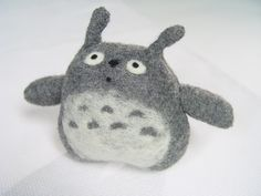 My Neighbor Totoro  Upcycled Totoro Plush Toy by NataliBright, $30.00