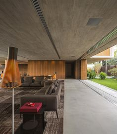 project modern residence 11 Three Massive Volumes Seemingly Revolving Around a Central Nucleus: P House