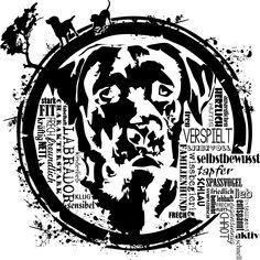 Labrador - familienfreundliche Begleiter die sich in menschlicher Umgebung hundewohl fühlen. Unser Motiv für Freunde dieser Hunde.