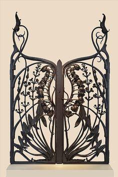 Grille art nouveau du ferronnier Emile Robert (musée de l'Ecole de Nancy | JV