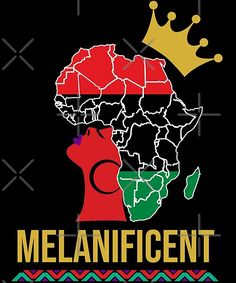 You are a Melanificent queen. Buy this shirt to share your magnificence or should we say melanificence with the world! Black Girl Quotes, Black Girl Art, Black Women Art, Black Girl Magic, Black Girls, Black History T Shirts, Black History Facts, Afro, Black Art Pictures
