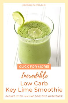 Looking for healthy snack inspiration? This incredible low carb ket lime smoothie recipe is a refreshing drink full of immune boosting nutrients! Great as a breakfast meal or afternoon energy boost, this smoothie is packed with delicious nutrients! #lowcarbsmoothie #lowcarbkeylimesmoothie #lowcarbdrinks Smoothie Packs, Low Carb Drinks, Low Carb Smoothies, Diabetic Friendly Desserts, Best Low Carb Recipes, Low Carb Breakfast, Key Lime, Kefir