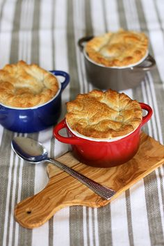 chicken pot pie - I'm always on the hunt for recipes for my mini cocottes!