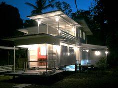 Casa con contenedores. Tailandia