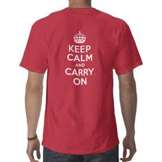 ae449944134a keep calm and carry on Lifeguard Shirt